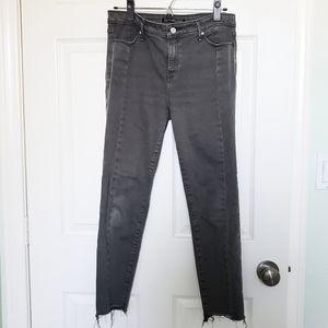abercrombie dark gray skinny jeans ✰